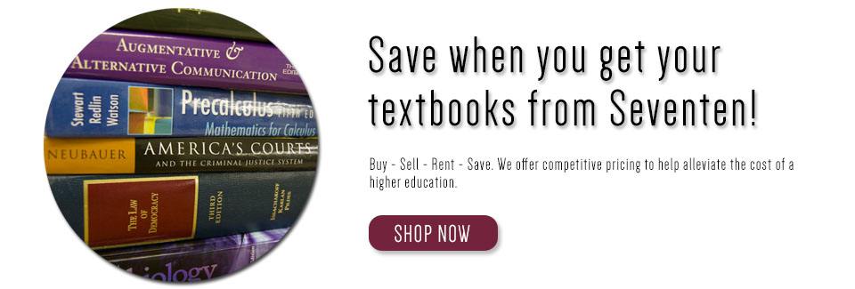 Save when you get your textbooks from Seventen.com!