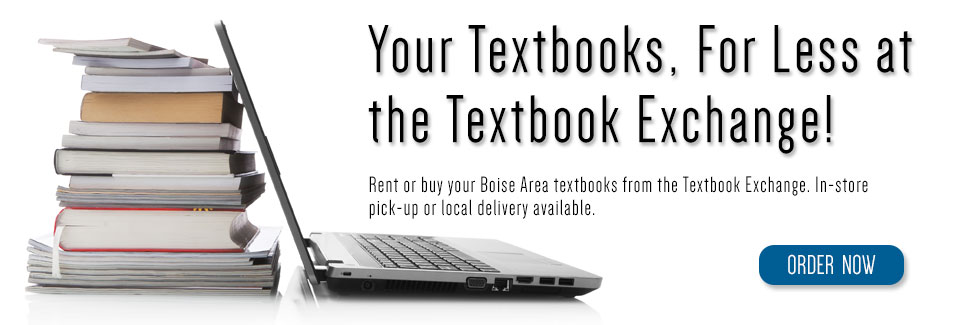 Your textbooks, for less at the Textbook Exchange!
