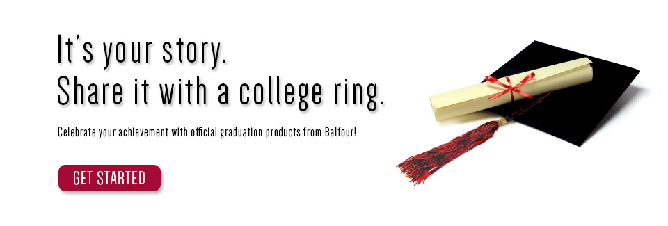 It's your story, share it with a college ring!
